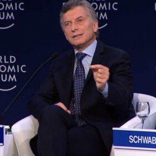 El presidenteMauricio Macrihabla al inaugurar el Foro Económico Mundial sobre América Latina en el Hotel Hilton.
