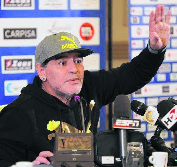 Diego Maradona. No quiere que se demore la situación del entrenador.