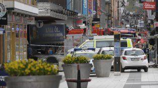 El atentado se produjo en pleno centro de la capital de Suecia