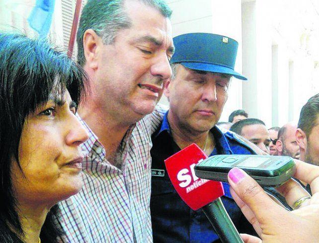 Espeluznante. Andrea Lescano y Néstor García