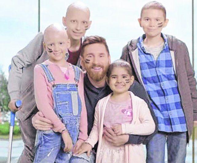 Golazo. Lionel Messi se sumó a la campaña para construir en Barcelona un centro de atención e investigación del cáncer infantil.