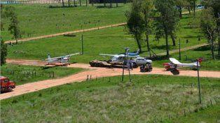 in situ. Avionetas fueron halladas en la estancia Santa Ursula