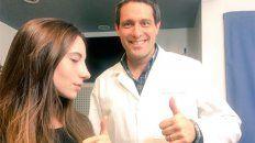 el medico que opero a magui bravi publico la foto de como quedo la nariz
