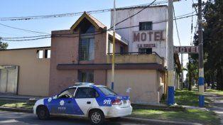la gruta. El crimen ocurrió en un motel de Granadero Baigorria.