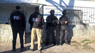 Uno de los domicilios allanados esta mañana en la causa por el secuestro del 1º de abril