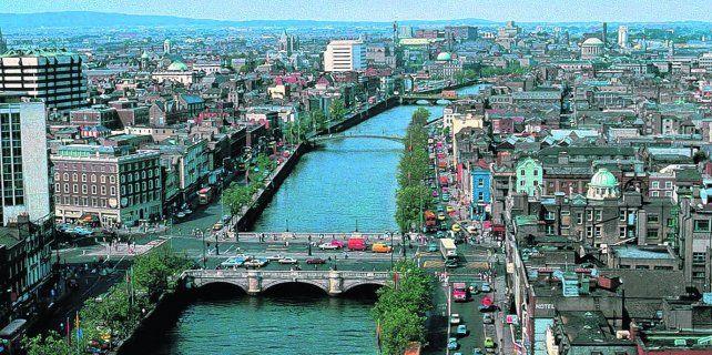 Postal. Dublín es una ciudad cargada de significado cultural y de rica arquitectura