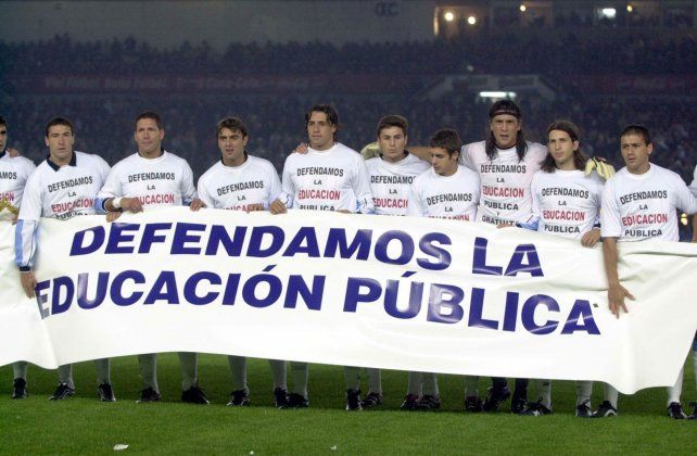 Un partido entre Argentina y Brasil donde ganó la defensa de la enseñanza.