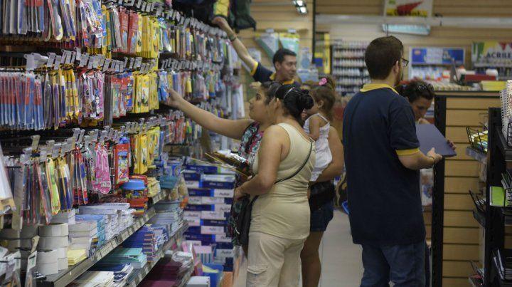 El mayor gasto. La suba de precios impactó principalmente en la canasta escolar de marzo.