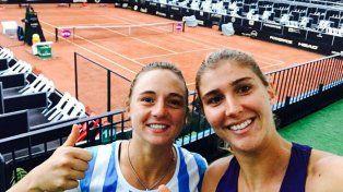 El dúo. La Rusita rosarina y Maia Haddad tras ganar en semifinales ayer en Bogotá.