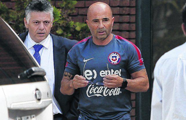 Sampaoli junto a su representante Fernando Baredes
