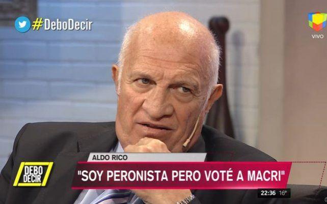 Aldo Rico se descompuso en vivo en Debo decir y tuvo que dejar el programa