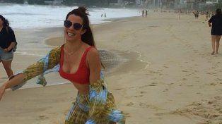 El polémico gesto de Miriam Lanzoni desde sus vacaciones en Brasil