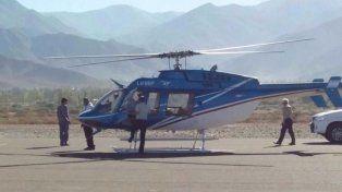 Un equipo de la policía de Salta a bordo de un helicóptero rescató al rosarino Diego Echenique