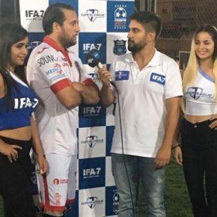 Seba Cobelli continúa en actividad en el club Sportivo Escobar y participa de la liga amateur Fesfa.