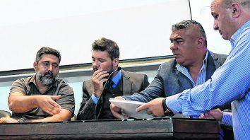No hace mucho. Angelici, Tinelli, Tapia y Nicolás Russo, que quiere ir a la comisión de selecciones.