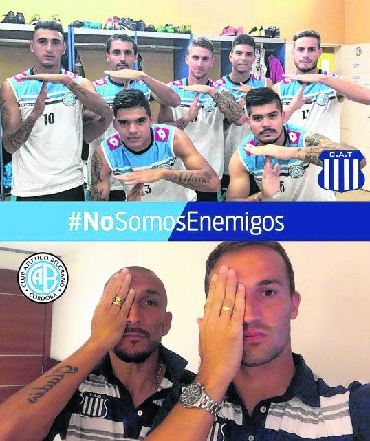 {altText(#No somos enemigos. Jugadores de Belgrano y Talleres, juntos en campaña contra la violencia en el fútbol.,La cancha después de la trágica furia desatada en Córdoba)}