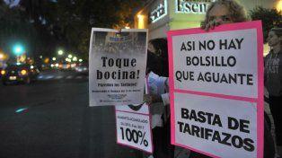 Los tarifazos en los servicios públicos fueron motivo de protesta.