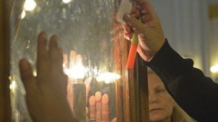 Los rosarinos le agradecen a San Expedito