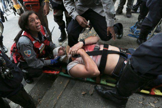 Manifestantes chocaron con las fuerzas de seguridad.
