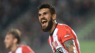 El grito de gol de Javier Toledo, que le dio la victoria a Estudiantes en La Plata.