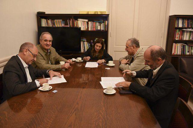 De la reunión participaron el secretario de Políticas Universitarias y el secretario general de Fatun.