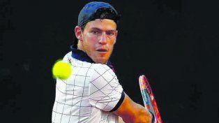 Schwartzman. El tenista porteño jugó en gran nivel y ganó por 6/3 y 7/6.