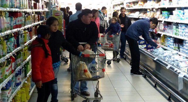 Los aumentos de precios se hicieron sentir en la provincia.