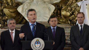 Macri anunció en Casa de Gobierno el Plan Federal de Energía, que contó con la presencia de todos los gobernadores.
