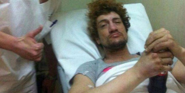 El músico fue internado luego del grave accidente que sufrió a bordo de su moto.