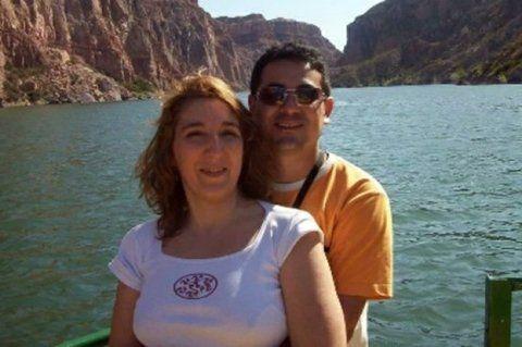 otros tiempos. Alejandra Pollizi y su esposo