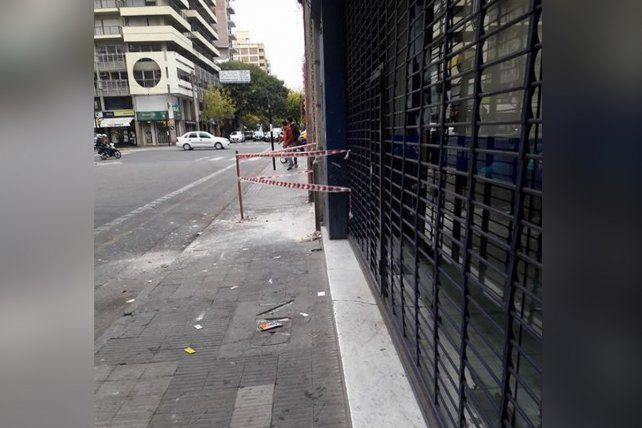 Personal de Guardia Civil cercó el lugar luego del incidente esta mañana.