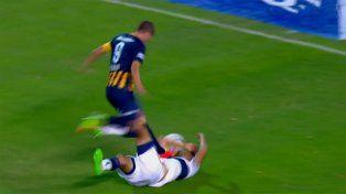 La jugada que le costó la expulsión directa a Marco Ruben, el goleador canalla.