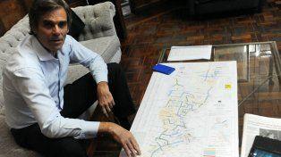 Mapa en mano. Seghezzo describió uno por uno los trabajos.