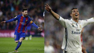 El mejor. Lionel Messi, figura catalana.Estelar. Cristiano, la bandera merengue.