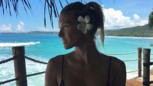 La modelo festejó su cumpleaños en el Pacífico junto a su marido.