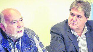 presentación. Mario Perichón y Luis Rubeo buscan atemperar los tarifazos.