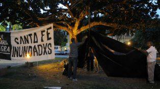 Santa Fe: acto por víctimas de la crecida del Salado