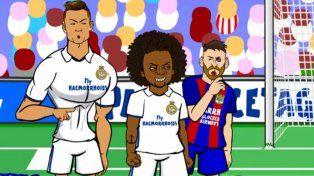 La irónica parodia que enaltece a Messi y ridiculiza a Cristiano Ronaldo
