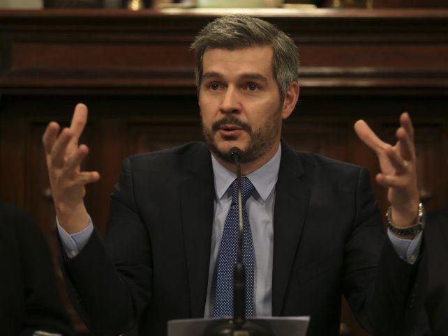 Informe. Peña habló de Santa Fe al exponer en la Cámara alta.