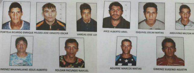Los evadidos que estaban alojados en el penal de la comisaría 5ª.