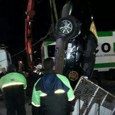 La imagen tomada por un testigo del accidente.