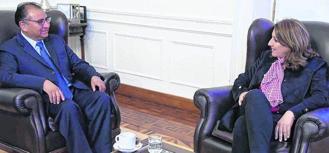 Encuentro. El embajador de Bolivia