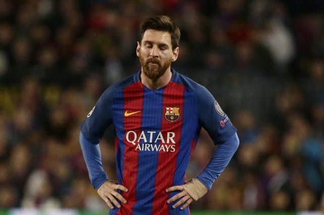 El astro rosarino del Barcelona Lionel Messi.
