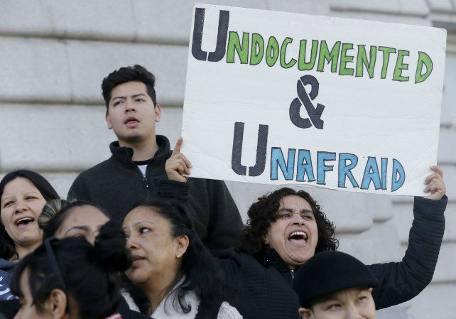 Una reciente protesta en San Francisco contra la amenaza de expulsión de inmigrantes.