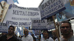 Gremios. La UOM pide aumento y lucha contra los despidos.