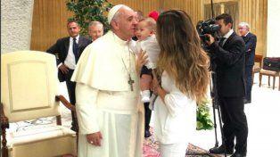 Jimena Barón recordó el blooper que realizó durante una visita al Papa Francisco