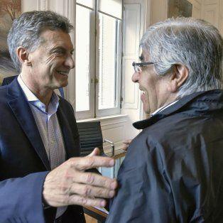 Gestos. Macri y Moyano, en una reunión en los albores de la gestión Cambiemos, en febrero de 2016.