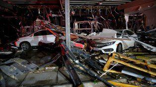 Las severas tormentas provocaron daños en Canton
