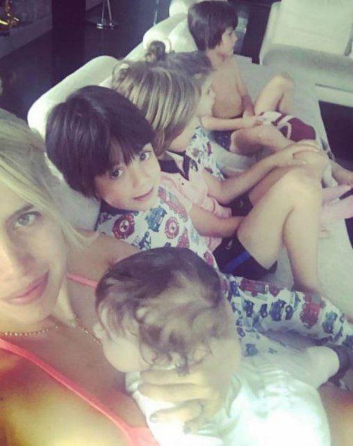 El tierno video de los hijos de Wanda que ya se convirtió en récord del lunes feriado