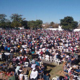 El almuerzo se realizó en el Roque Saenz Peña, de la zona sur de la ciudad.